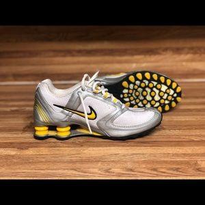 Yellow Nike shox